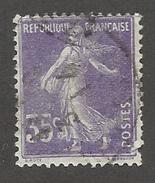 FRANCE - N°YT 136 OBLITERE - COTE YT : 8€ - 1906 - 1906-38 Semeuse Camée