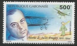 1994 Gabon Literature Writer Petit Prince De Saint-Exupery Plane Avion  Complete Set  Of 1 MNH - Coneshells