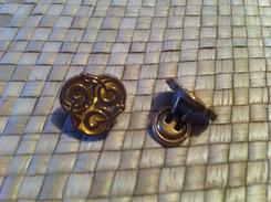 Paire Boutons Manchette ,plaqué Or,fin XIXs. - Jewels & Clocks