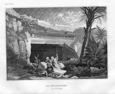 Jerusalem Königsgräber Israel Asien Asia Engraving Original Stahlstich - Estampes & Gravures