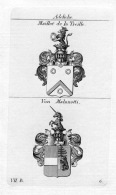 Maillot De La Treille Malanotti Wappen Coat Of Arms Heraldik Heraldry Kupferstich - Prints & Engravings