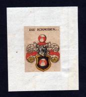 H Schmiden Wappen Coat Of Arms Heraldry Heraldik Kupferstich - Prints & Engravings