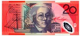 AUSTRALIA 20 DOLLARS 2008 Pick 59f Unc - Emisiones Gubernamentales Decimales 1966-...