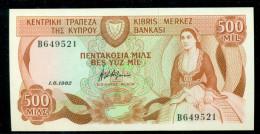 CYPRUS 500 MILLS  1-6-1982 P 45, Crisp UNC - Chypre