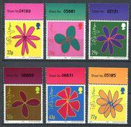 180 GRANDE BRETAGNE 2002 - Yvert 1017/22 - Fleur Stylisee - Neuf ** (MNH) Sans Trace De Charniere - Unused Stamps