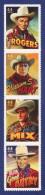 ETATS UNIS Cowboys Of The Silver Screen. William S. Hart, Tom Mix, Gene Autry, Et Roy Rogers. 4 Auto-adhésifs Neufs**.