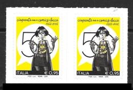 2016 - Cinquantenario COMICS Lucca - COPPIA - Nuovi - Adesivi - 2011-...:  Nuovi