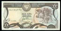 CYPRUS 1 LIRA  1-2-1992 P 53b  UNC - Chypre