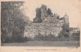 Jeumont Ruines Du Chateau De Jeumont Carte Decollée Partiellement - Jeumont