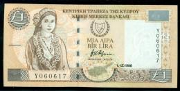 CYPRUS 1 LIRA - POUND 1-12-1998 P 60b  UNC - Chypre