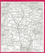 Mayenne Larousse 1948 - Cartes