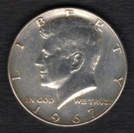 Etats-unis HALF DOLLARS 1/2 Kennedy 50 Cents 1967 , 2 Scannes - Federal Issues