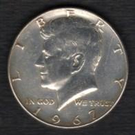 Etats-unis HALF DOLLARS 1/2 Kennedy 50 Cents 1967 , 2 Scannes - 1964-…: Kennedy