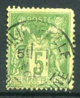 FRANCE ( POSTE ) : Y&T  N°  106  TIMBRE  TYPE  SAGE ,  OBLITERE  C A D  PHILIPPEVILLE ,  A  VOIR - 1898-1900 Sage (Type III)