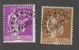 FRANCE - PREOBLITERES N°YT 70/71 NEUFS SANS GOMME - COTE YT : 4.50€ - 1922/47 - Precancels