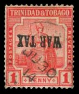 BC-TRINIDAD. War Tax Ovptd, Inverted Faked For Reference.. FALSOS. FAKES. FORGERIES - Unclassified