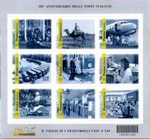 PIA  -  ITALIA  -  2012 : 150° Anniversario Delle Poste Italiane  -     (SAS  Bf 86 ) - Blocchi & Foglietti