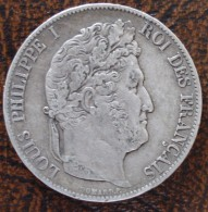 (J) FRANCE: Silver 5 Francs 1847A VF+ (3574)  SALE!!!! - Francia