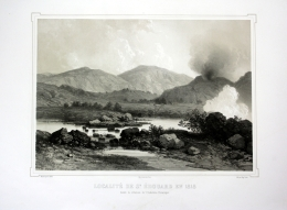 """Localite De St Edouard En 1818"" - San Edoardo Italia Italien Toskana Tuscany Veduta Lithographie Litho - Stiche & Gravuren"
