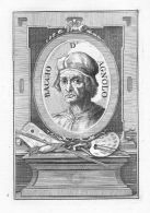 Baccio D'Agnolo Architect Kupferstich Portrait Engraving - Stiche & Gravuren