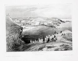 Biarritz Pyrenees Aquitaine Lithographie Jacottet - Stiche & Gravuren