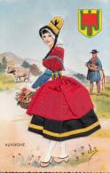 Matériaux Différents - Carte Tissée - Tissu - Région Auvergne - Editions Vacances Paris - Espagne - Cartes Postales