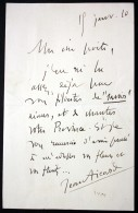 Autograph Letter With Signature / Eigenhändiger Brief Mit Unterschrift Vom 18. Januar 1920 - Autogramme & Autographen
