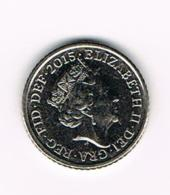 °°°  GREAT BRITAIN  5 PENCE 2015 - 5 Pence & 5 New Pence