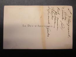 CARTE DE VISITE BELGIQUE (V1618) LE DUC D'ARENBERG (2 Vues) - Cartes De Visite