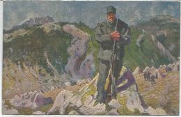 Cascella T. 8.9.1917, Valle Giudicaria, Una Sentinella, Prima Guerra Mondiale, Croce Rossa. - War 1914-18