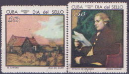 62-477 // CUBA  1969  -   DAY OF THE  STAMP   Mi  1461/62 O - Cuba