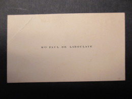 CARTE DE VISITE BELGIQUE (V1618) Mme PAUL DE LABOULAYE (2 Vues) - Cartes De Visite