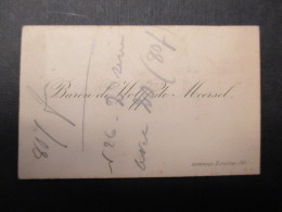 CARTE DE VISITE BELGIQUE (V1618) BARON De WOLFF De MOORSEL (2 Vues) Avenue Louise, 36 - Cartes De Visite