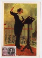 CARTE MAXIMUM CM Card USSR RUSSIA Music Composer Conductor RUBINSTEIN - 1923-1991 USSR