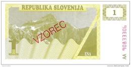 Slovenia - Pick 1s1 - 1 Tolar 1990 - Unc - SPECIMEN - VZOREC - Slovénie