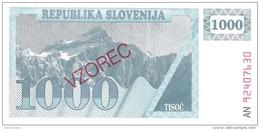 Slovenia - Pick 9s1 - 1000 Tolarjev 1990 - Unc - SPECIMEN - VZOREC - Slovenia
