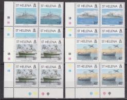 St. Helena 1992 Liberation Of The Falkland Islands 4v Bl Of 4 (corners)  ** Mnh (33497) - Sint-Helena