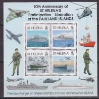St. Helena 1992 Liberation Of The Falkland Islands M/s   ** Mnh (33497A) - Sint-Helena