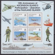 Ascension Island 1992 Liberation Of The Falkland Islands M/s  ** Mnh (33498A) - Ascension