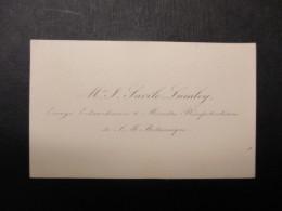 CARTE DE VISITE BELGIQUE (V1618) SAVILE LUMLEY Envoyé Extraordinaire & Ministre Plénipotiaire S. M. Britanique (2 Vues) - Cartes De Visite