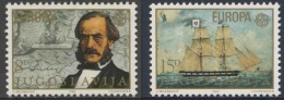 "Jugoslavija Yugoslavia 1982 Mi 1919 /0 YT 1804 /5 ** Capt. Ivo Visin, Naval Chart + His Ship ""Splendido"" / Segelschiff - 1945-1992 Socialistische Federale Republiek Joegoslavië"