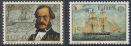 "Jugoslavija Yugoslavia 1982 Mi 1919 /0 YT 1804 /5 ** Capt. Ivo Visin, Naval Chart + His Ship ""Splendido"" / Segelschiff - Transportmiddelen"