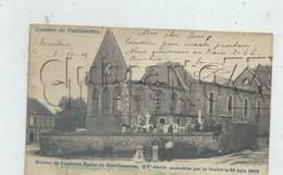 Seneffe (Belgique,Hainaut) : L'église En Ruine Après Foudre Et Le Cimetière Du Hameau De Familleureux En 1902 (animé) PF - Seneffe