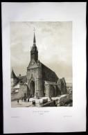 """""""Eglise De N.D. A Mamers"""" - Mamers Sarthe Frankreich France Lithographie - Stiche & Gravuren"""