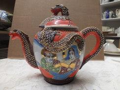 Japan  ,  Alte Tee Kanne , Reichlich Verziert Ca. 1950 - Asiatische Kunst