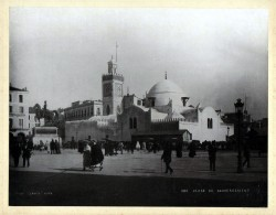 """Place Du Gouvernement"" - Place Du Gouvernement Algiers Algier Algeria Leroux Albumen Foto Photo Vintage Antique - Photos"