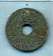 1942 20 Centimes ÉTAT FRANÇAIS Zinc - E. 20 Centesimi