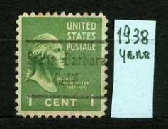 STATI UNITI - U.S.A. - Year 1938 - Usato - Used. - Etats-Unis