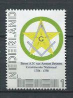 103 PAYS BAS (Nederland) 2015 - Baron A N .......... Masonic Franc Maconnerie Fremasonry - Neuf ** (MNH) Sans Charniere - Franc-Maçonnerie
