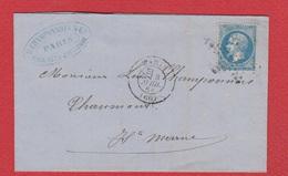 Lettre / De Paris / Pour Chaumont / 8 Avril 1868 - 1849-1876: Periodo Clásico